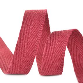 Лента киперная 10 мм хлопок 2.5 гр/см цвет F178 бордовый фото