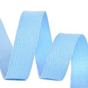 Лента киперная 10 мм хлопок 2.5 гр/см цвет S351 голубой фото