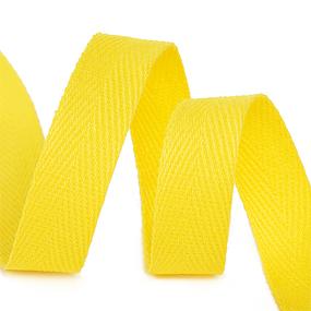Лента киперная 15 мм хлопок 2.5 гр/см цвет F110 желтый фото