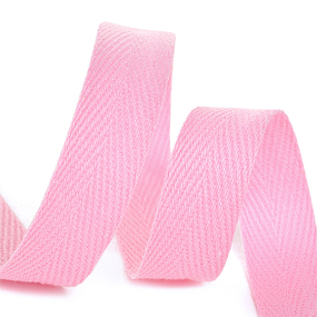 Лента киперная 15 мм хлопок 2.5 гр/см цвет F134 розовый фото