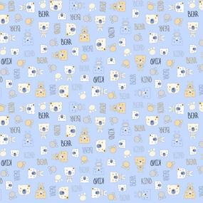 Фланель 90 см набивная арт 514 гр Тейково рис 21186 вид 2 Мишки фото