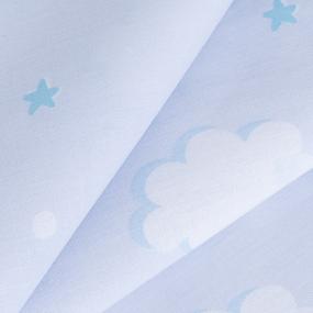 Ткань на отрез поплин 150 см 1981 Облака фото