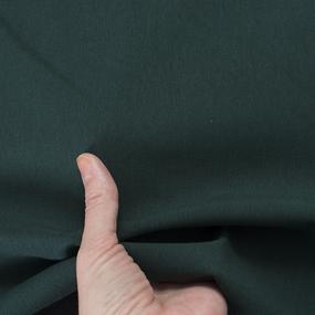 Ткань на отрез футер петля с лайкрой Темно-зеленый фото