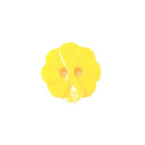 Пуговица детская на два прокола Розочка 13 мм цвет св-желтый упаковка 24 шт фото