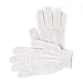 Перчатки рабочие без ПВХ 10-й класс белые 4-х нитка фото