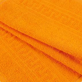 Полотенце махровое 30/50 см цвет 207 апельсиновый фото