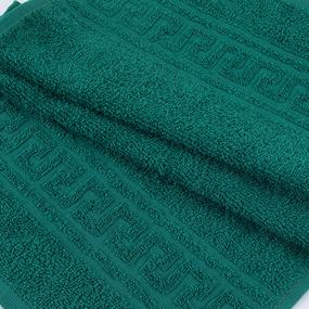 Полотенце махровое 30/50 см цвет 507 темно-зеленый фото