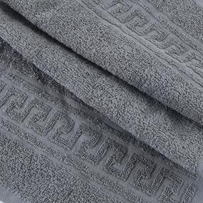 Полотенце махровое 30/50 см цвет 910 серый фото