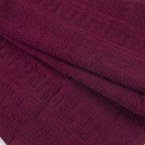 Полотенце махровое 30/50 см цвет 945 бордовый фото