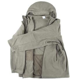 Куртка Флис с капюшоном цвет олива размер L фото