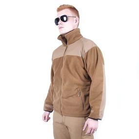 Куртка Флис без капюшона цвет койот размер L фото