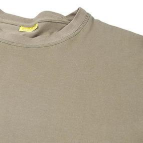 Мужская однотонная футболка цвет олива размер 56 фото