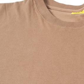 Мужская однотонная футболка цвет койот размер 56 фото