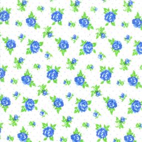 Ткань на отрез фланель белоземельная 90 см 198-1п Цветы на белом фото