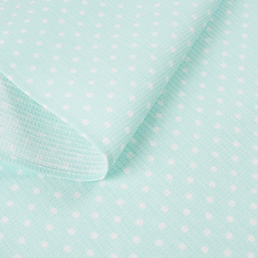 Полотенце вафельное банное 150/75 см 1171/2 Горох мята фото