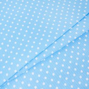 Полотенце вафельное банное 150/75 см 1171/1 Горох голубой фото