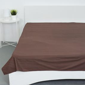 Простыня страйп-сатин 896 цвет шоколад 1.5 сп фото