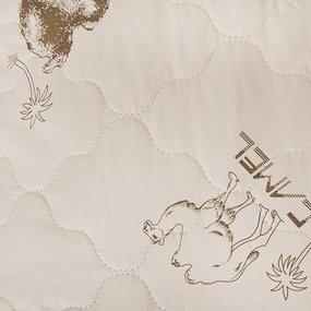Подушка Верблюжья шерсть чехол стеганный п/э 70/70 фото
