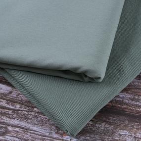 Ткань на отрез футер с лайкрой 2208-1 цвет светло-зеленый фото
