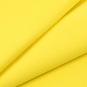 Ткань на отрез футер с лайкрой 2210-1 цвет желтый фото