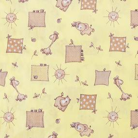 Маломеры бязь ГОСТ детская 150 см 366/4 Жирафики цвет желтый 23.8 м фото