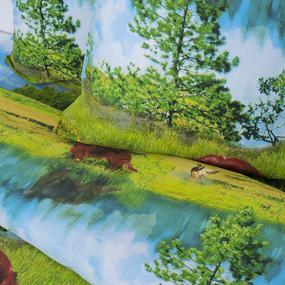 Постельное белье бязь Охота с 3D эффектом Евро фото