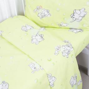 Пододеяльник детский из бязи 1285/3 Мамонтенок цвет зеленый, 110х145 см фото