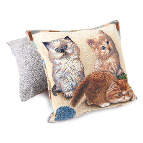 Наволочка гобелен декоративная 45/45 см Персидские котята фото