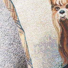 Наволочка гобелен декоративная 45/45 см Йоркширский терьер фото