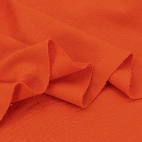 Ткань на отрез интерлок цвет оранжевый фото