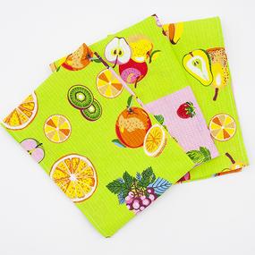 Набор вафельных полотенец 3 шт 35/75 см 0222/1 фото