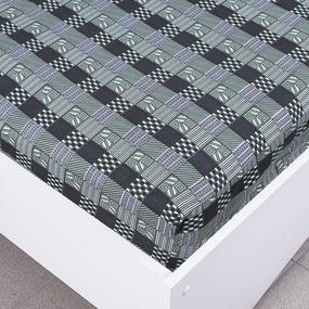 Простыня трикотажная на резинке Премиум цвет абстракция1 120/200/20 см фото