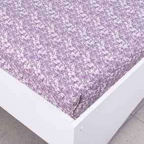 Простыня трикотажная на резинке Премиум цвет цветы52 120/200/20 см фото