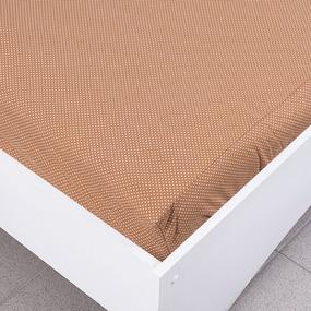 Простыня трикотажная на резинке Премиум цвет мелкий горох цвет коричневый 120/200/20 см фото