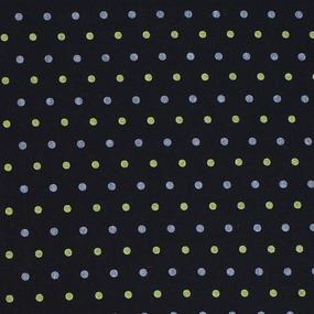 Простыня трикотажная на резинке Премиум цвет мелкий горох цвет черный 120/200/20 см фото