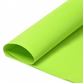 Набор листового фоамирана 031/1 (118) цв.зеленый лайм 1 мм уп.50 листов 30х35 см фото