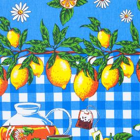 Полотенце рогожка 35/75 см 4549/1 Лимоны фото