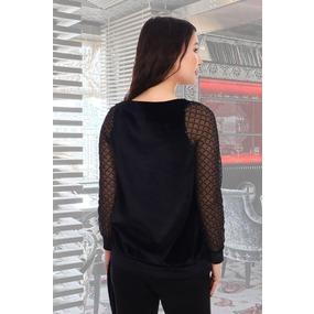 Блузка Бурлеск 10355 черная р 44 фото