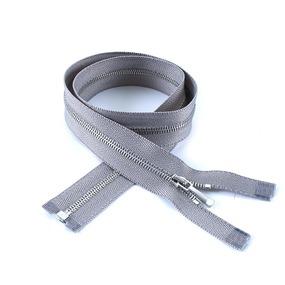 Молния металл №1 никель разъем 160см D225 серый фото