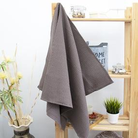 Полотенце вафельное банное Премиум 150/75 см цвет 969 коричневый фото