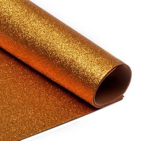 Фоамиран глиттерный 2 мм 20/30 см уп 10 шт MG.GLIT.H035 цвет медный фото