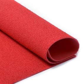 Фоамиран махровый 2 мм 20/30 см уп 10 шт MG.TOW.N001 цвет красный фото