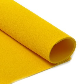 Фоамиран махровый 2 мм 20/30 см уп 10 шт MG.TOW.N027 цвет желтый фото