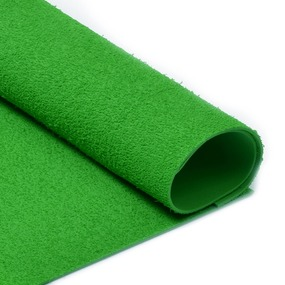 Фоамиран махровый 2 мм 20/30 см уп 10 шт MG.TOW.N030 цвет зеленый фото