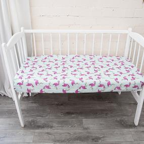 Постельное белье в детскую кроватку из поплина 434/2 фото