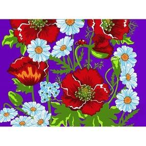 Вафельное полотно 45 см 144 гр/м2 1650/2 цвет фиолетовый фото