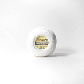 Канариес-20 0000-White 100% хлопок 20гр 230м (Турция) цвет белый фото