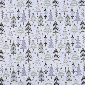 Ткань на отрез рогожка 150 см 7377/2 Елочки цвет олива фото