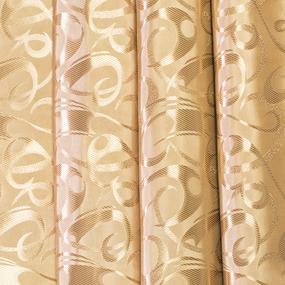 Портьерная ткань 150 см на отрез 5 цвет золотой фото