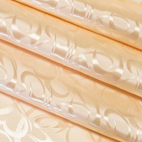Портьерная ткань 150 см на отрез 1 цвет бежевый фото